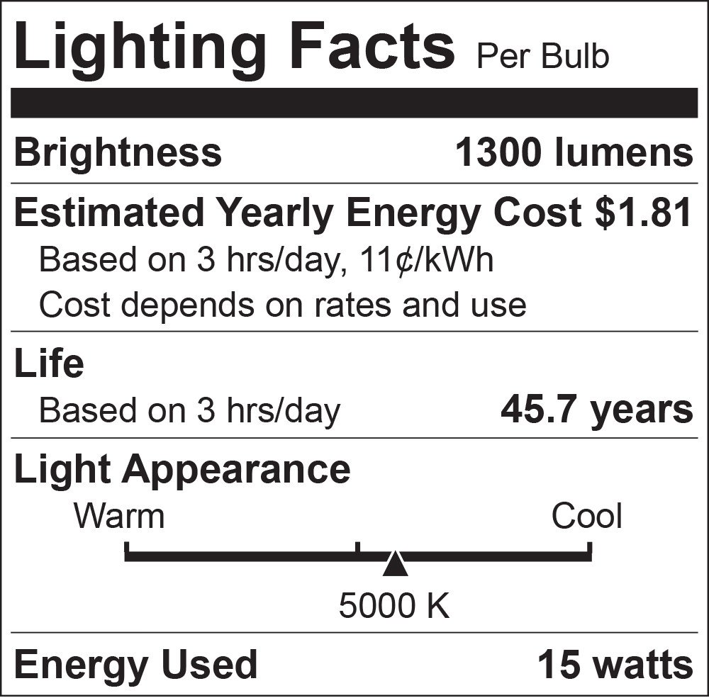 Luxrite 5/6 Inch LED Recessed Light, 15W (120W Equivalent), 5000K Bright White, 1300lm, Dimmable, Retrofit LED Can Light, Energy Star & UL, Damp Rated - Perfect for Kitchen, Bathroom, Office (4 Pack) by Luxrite (Image #3)