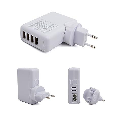 DURAGADGET Cargador De Viaje con 4 Puertos USB para SPC Glee ...