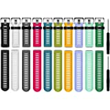 HWHMH Colorful Replacement Silicone Bands With Pin Removal Tools For Garmin Fenix 3 / Garmin Fenix 3 HR (No Tracker, Replacement Bands Only)