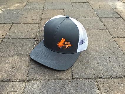 832266f0440 Amazon.com   Idaho Fishing Hat 208 Area Code Fly Fishing Hat (Gray ...