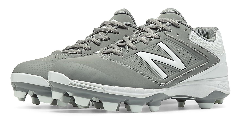 (ニューバランス) New Balance 靴シューズ レディースソフトボール Low Cut 4040v1 Plastic Cleat Grey with White グレー ホワイト US 6.5 (23.5cm) B014I8S1Z0