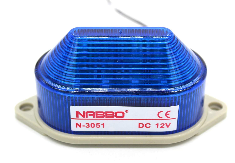 LED Warning Light Bulb Rotating Flashing Signal Tower Lamp AC//DC 24V Red N-3071