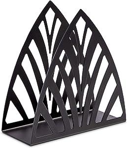 Napkin Holder Black Metal for Tables - New Design Napkin Organizer Modern Freestanding Upright Tissue Napkin Steel Dispenser Stand for Home Table Kitchen Decor Countertop Dinner