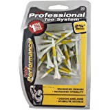 Pride Performance Professional Tee System Plastic Golf Tees (30 Count) (#.1 Pack - Yellow)