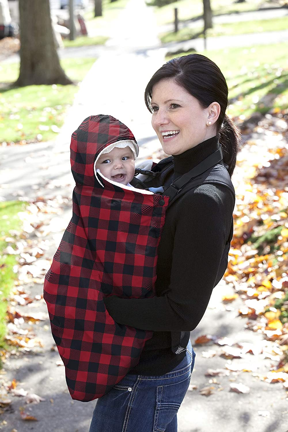 Red Plaid Jolly Jumper Snuggle Cover