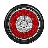 "Partsam 4Pcs 4"" Inch Round LED Trailer Tail"