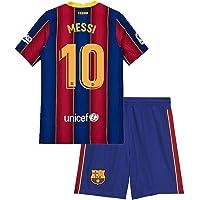 Domjurtd Messi #10 Kids/Youths Sportswear Barcelona 2020/2021 Season Home Soccer T-Shirts Jersey/Shorts