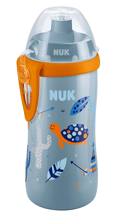 NUK Junior Cup Trinklernflasche Kinder, 300ml, auslaufsicher, mit Push-Pull-Tülle und Clip, ab 36 Monaten, BPA frei, Rosa 10255341