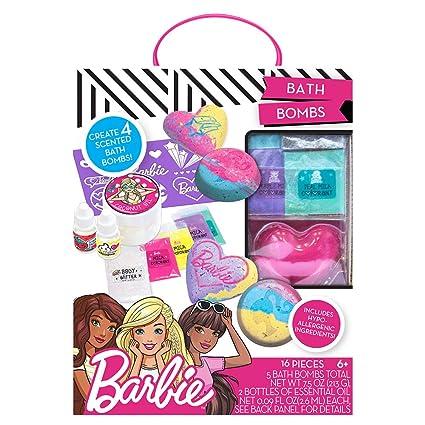 Amazon barbie by horizon group usa make your own bath bomb kit barbie by horizon group usa make your own bath bomb kit four custom create colorful and solutioingenieria Choice Image
