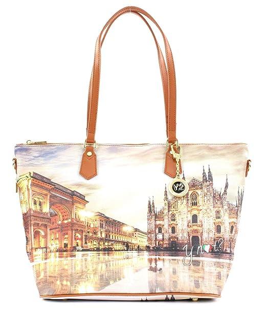 Borsa Shopping Bag Zip L Tan Gold Milano Sunset K 397  Amazon.it  Scarpe e  borse f448ea7dcf4