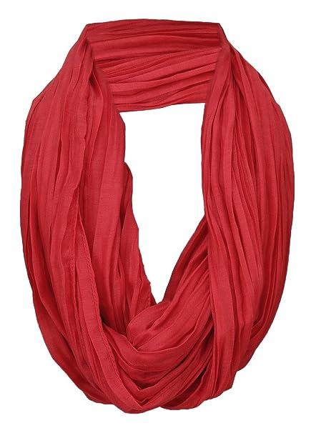Schlauchschal Rundschal TigerTie Loop Schal in rot verkehrsrot einfarbig Uni