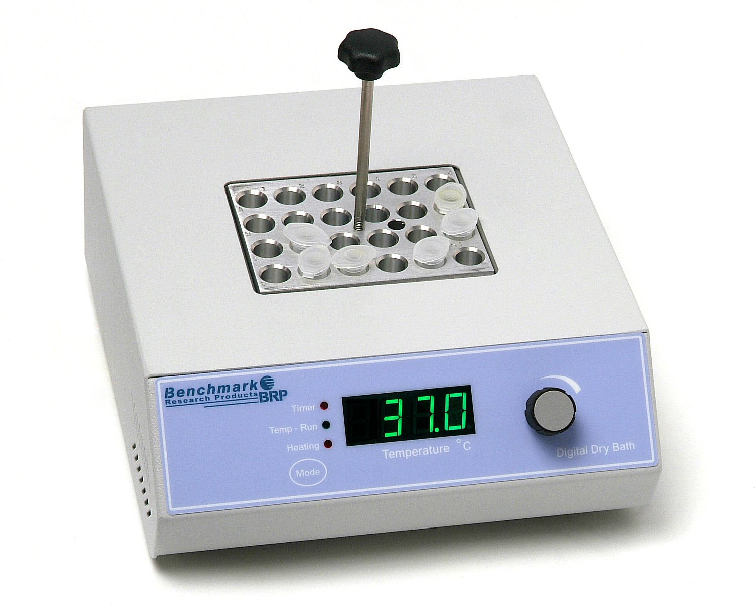 Benchmark Scientific BSH1001 Single Position Digital Dry Bath Incubator, 20 Width x 8 Height x 23 Depth cm, 115VAC, +5 to 150 Degree C