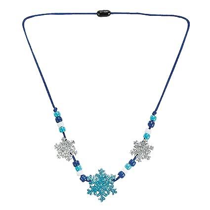 Amazon Com Beaded Glitter Foam Snowflake Necklace Craft Activity