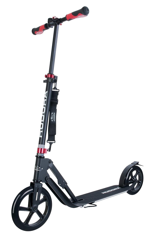 HUDORA 14235 BigWheel Style 230-Tret-Roller klappbar-Big Wheel City-Scooter, SchwarzSchwarz