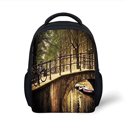 Amazon.com: iPrint Kids School Backpack Landscape,Romantic ...