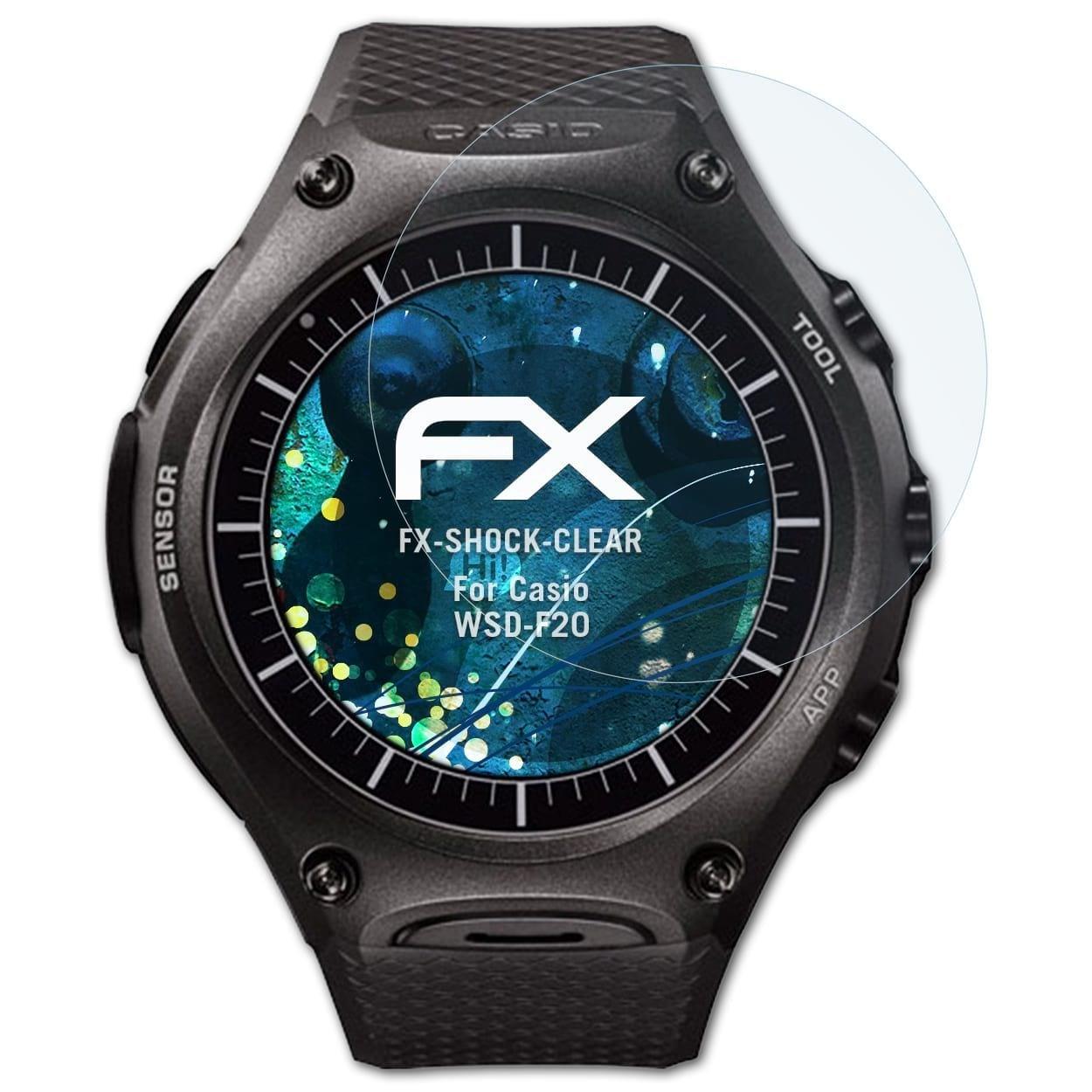 atFoliX Antichoque Película Protectora para Casio WSD-F20 ...