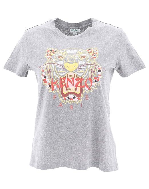 Kenzo Mujer F862ts7744yu97 Gris Algodon T-Shirt