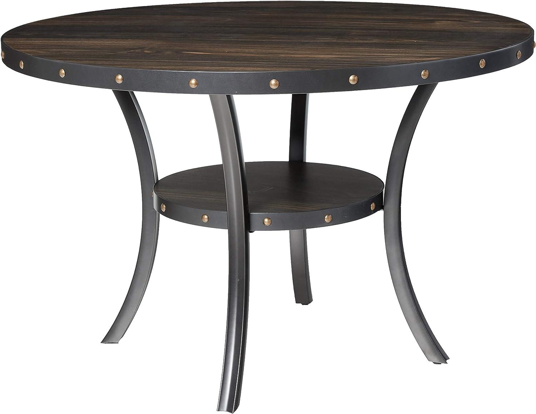 New Classic Furniture Crispin Dining Table, Smoke