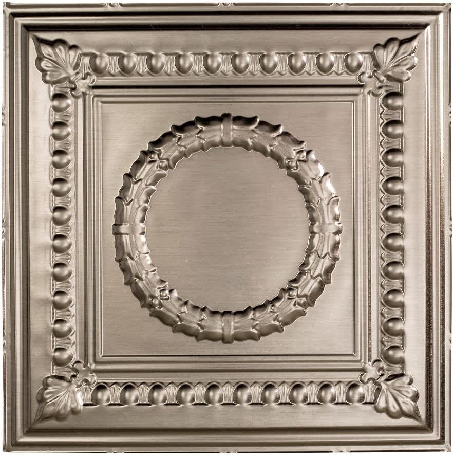 Fasade Easy Installation Rosette Copper Fantasy Lay In Ceiling Tile 2 x 2 Tile Ceiling Panel