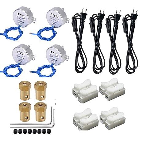 Amazon.com: 4 piezas de motor de mesa giratoria Synchronous ...