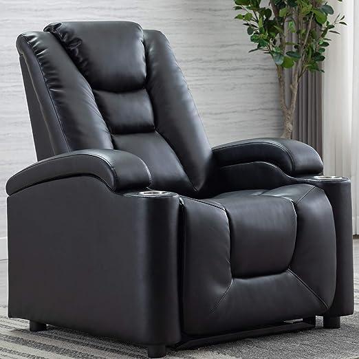 Amazon.com: ANJ Silla reclinable manual con piel regenerada ...