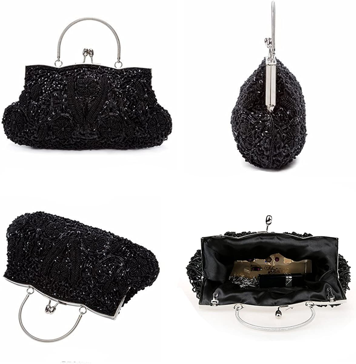 CUCTACBCT 1920s Vintage Beaded Evening Bags Gatsby Sequin Handbags ...