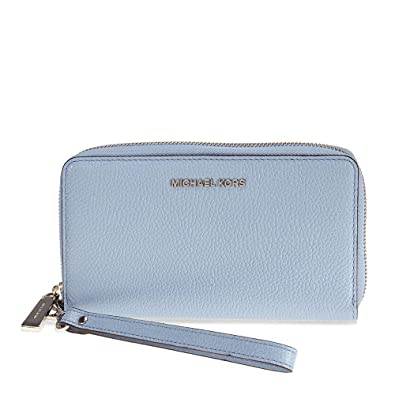 ffbf0aa258c7 MICHAEL Michael Kors KORS STUDIO Large Flat Phone Case Wristlet Pale Blue