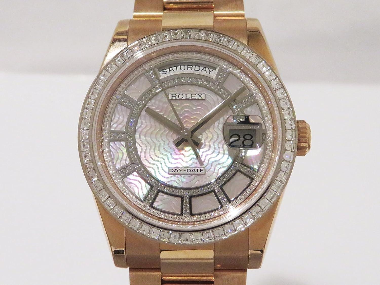 ロレックス ROLEX デイデイト セルティ 118395BR ピンクシェル/ダイヤモンド文字盤 メンズ 腕時計 中古 B07CCM4F9S