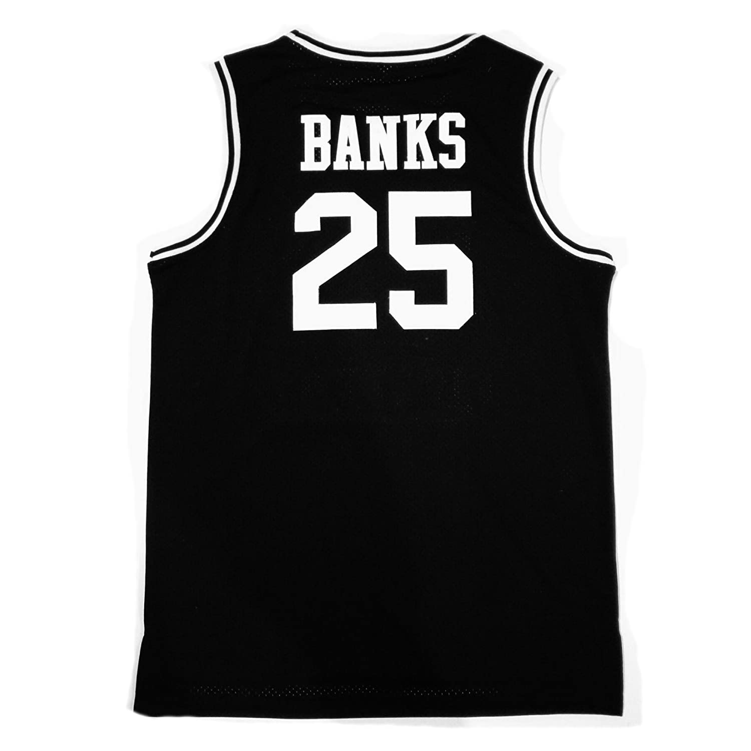 363676e0711a Amazon.com  MOLPE Banks  25 Bel Air Academy Basketball Jersey S-XXXL Black   Clothing