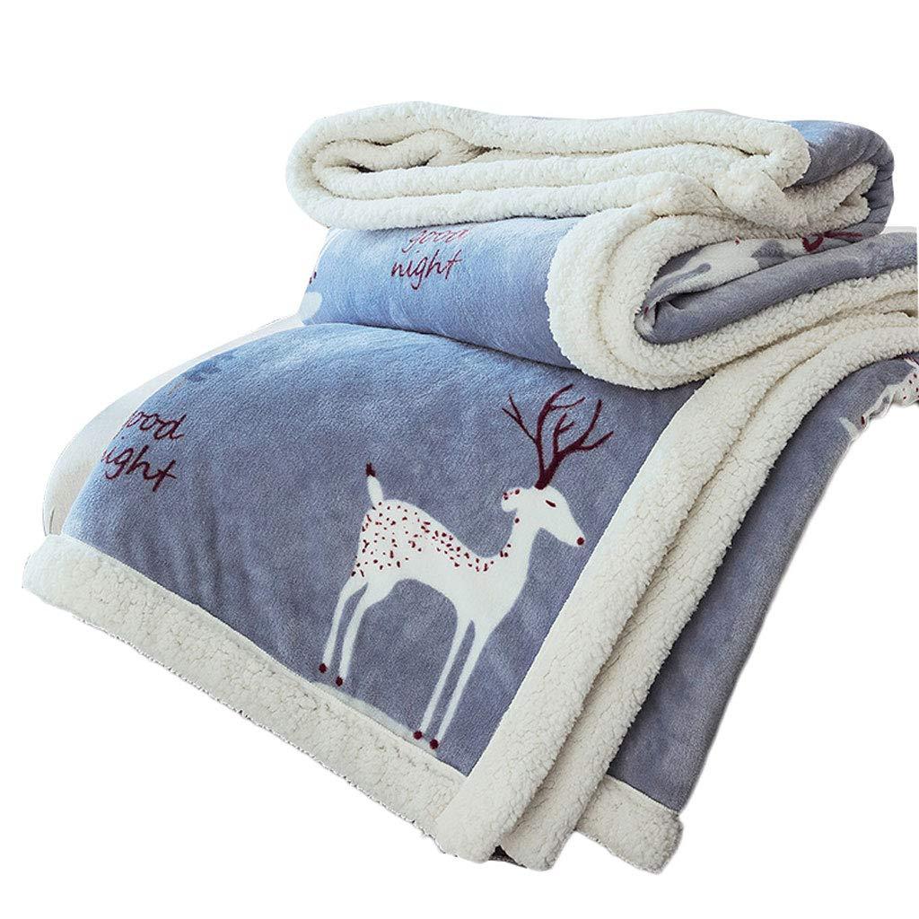Doppelte Decke Steppdecke doppelseitige Winter Dicke warme Flanelldecke weibliche Bett Winter Anti-Milbe Decke (Größe   200  230cm)