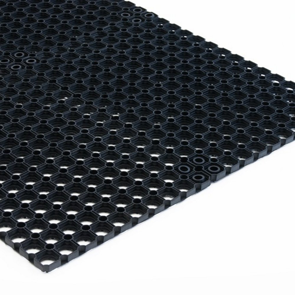 Octo Roll Pro nero Zerbino per Ingresso Esterno Tappeto in Gomma Antiscivolo a Griglia Spessore 22mm Varie Misure Ultra Assorbente 100x150 Antisporco