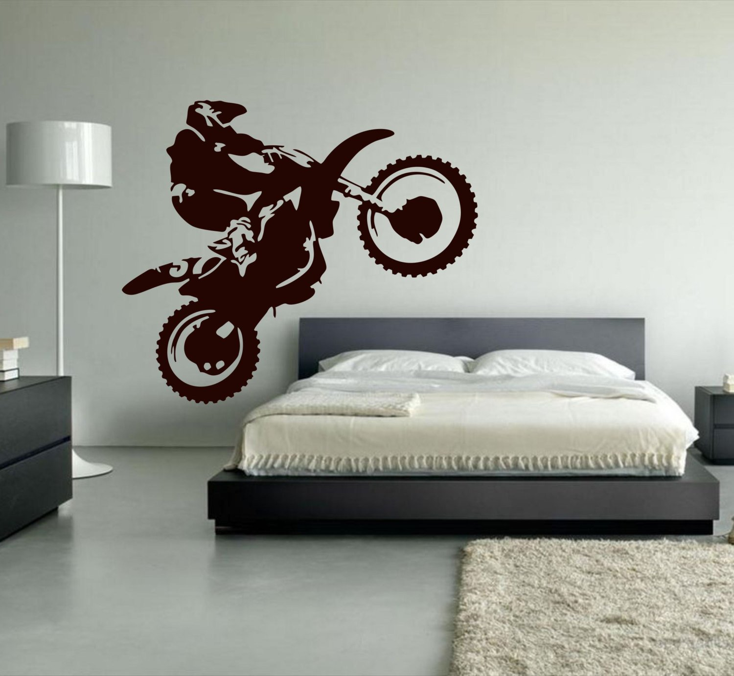 Ditooms Motocross Wall Decal Dirt Bike Vinyl Wall Decor Motorcycle Sports Wall Stickers