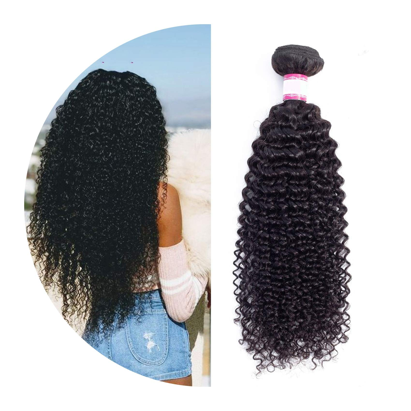 Curly Hair 1/3/4 pc 8-26inch Brazilian Hair Weave Bundles Non Remy Human Hair Extensions,22 22 22,Natural Color,United States by Sparks Fly Shop-hair-extensions