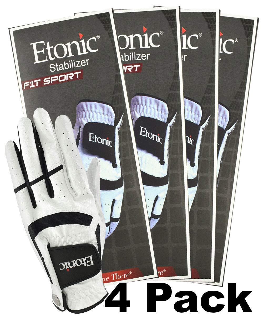 Etonic Golf- MLH Stabilizer F1T Sport Glove White/Black (4 Pack)