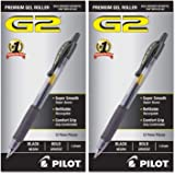 PILOT G2 Premium Refillable & Retractable Rolling Ball Gel Pens, Bold Point, Black Ink, 12 Count - 2 Pack