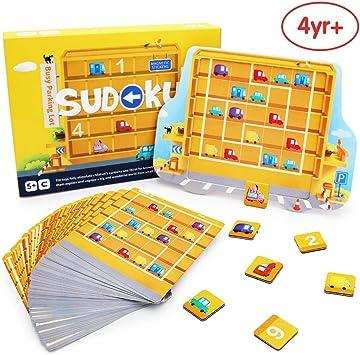 ANIKI TOYS Ocupado Estacionamiento Sudoku Juegos de Mesa magnéticos Número Puzzle Juguete de Viaje - 4 5 6 7 años Juguete Educativo para niños (Nivel avanzado): Amazon.es: Juguetes y juegos