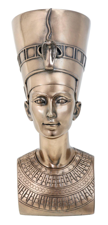 Egyptian 17,78 cm (bronce) - Nefertiti estatua figura ...
