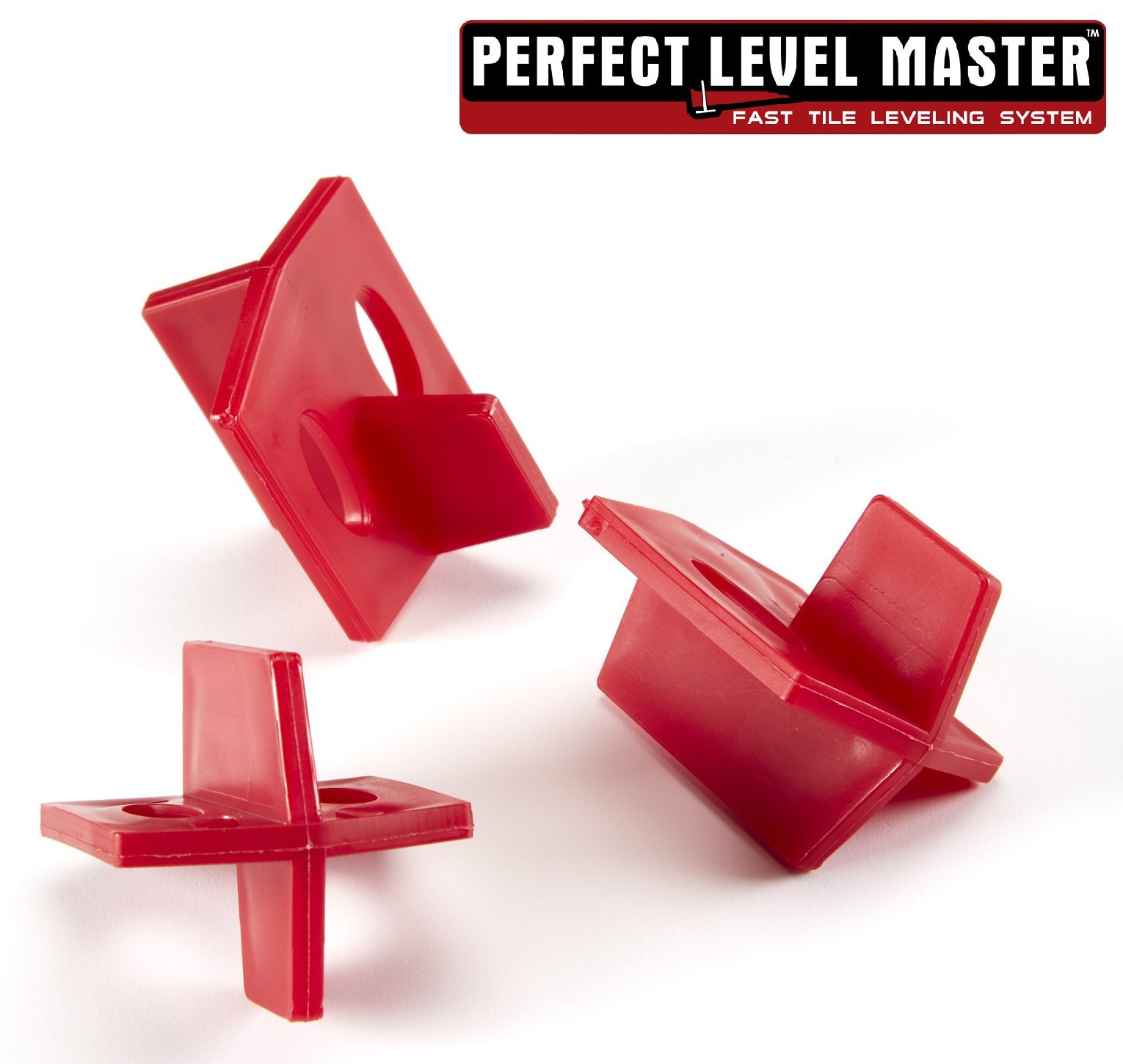 1/8'' Reusable Tile spacers PERFECT LEVEL MASTER Bag of 100 three sides spacers for wall and floor