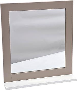 2 en 1 Miroir et Tablette de salle de bain - Esprit Charme: Amazon ...