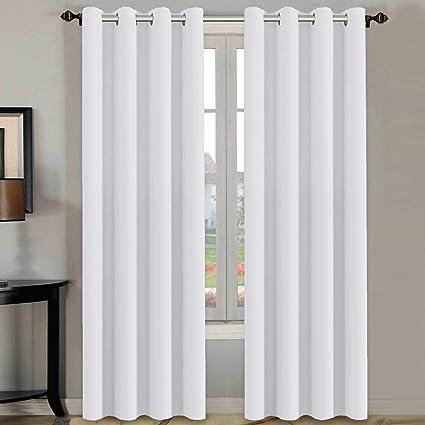 Amazon.com: H.VERSAILTEX White Curtains 96 inches Long Window ...