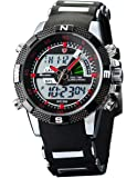 Shark - Montre Homme Sportive - SH043 - Quartz/ LED - Bracelet Acier
