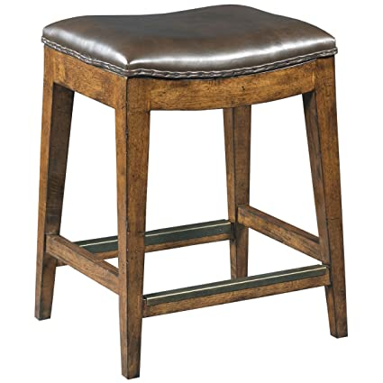 Admirable Hooker Furniture Sangria 24 Backless Leather Counter Stool In Medium Wood Gmtry Best Dining Table And Chair Ideas Images Gmtryco