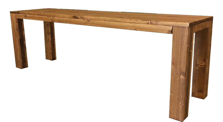 Panchina panca panchetta in legno esterno interno 100x38.5x50h anche su misura total wood 2012