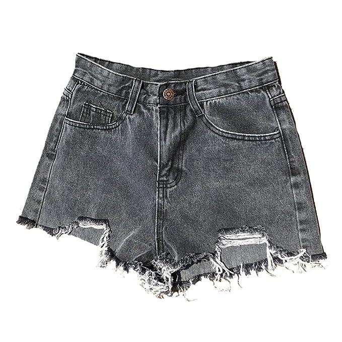 f671cadf LINNUO Vaqueros Cortos Mujer Mini Pantalones de Mezclilla Casual Denim  Jeans Shorts Club Hot Pants de Playa: Amazon.es: Ropa y accesorios