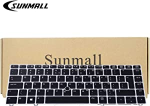 SUNMALL Backlit Keyboard Replacement with Big Enter Key and Mouse Pointer Compatible with HP Elitebook Folio 9470m 9480m Series Laptop