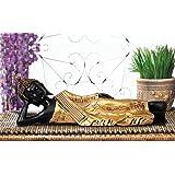 TiedRibbons® Buddha Statue showpiece Size(4X13X4,Inch) Gold