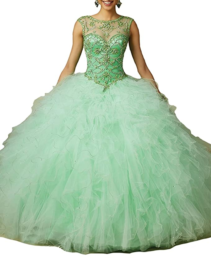 Aisha Womens\' Vestidos 15 Beading Ball Gown Sweet 16 Quinceanera ...