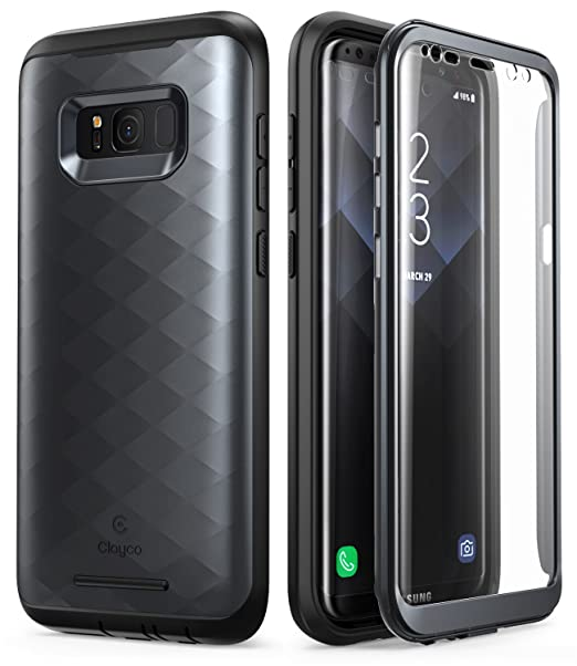 best website a28e2 80121 Clayco Samsung Galaxy S8 Plus Case, [Hera Series] Full-Body Rugged Case  with Built-in Screen Protector for Samsung Galaxy S8 Plus (2017 Release) ...