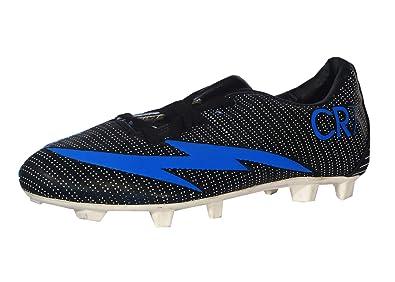 cc1ae099427 Ultimate Men s Stylish Black   Blue Mesh Football Sport Shoes Size ...