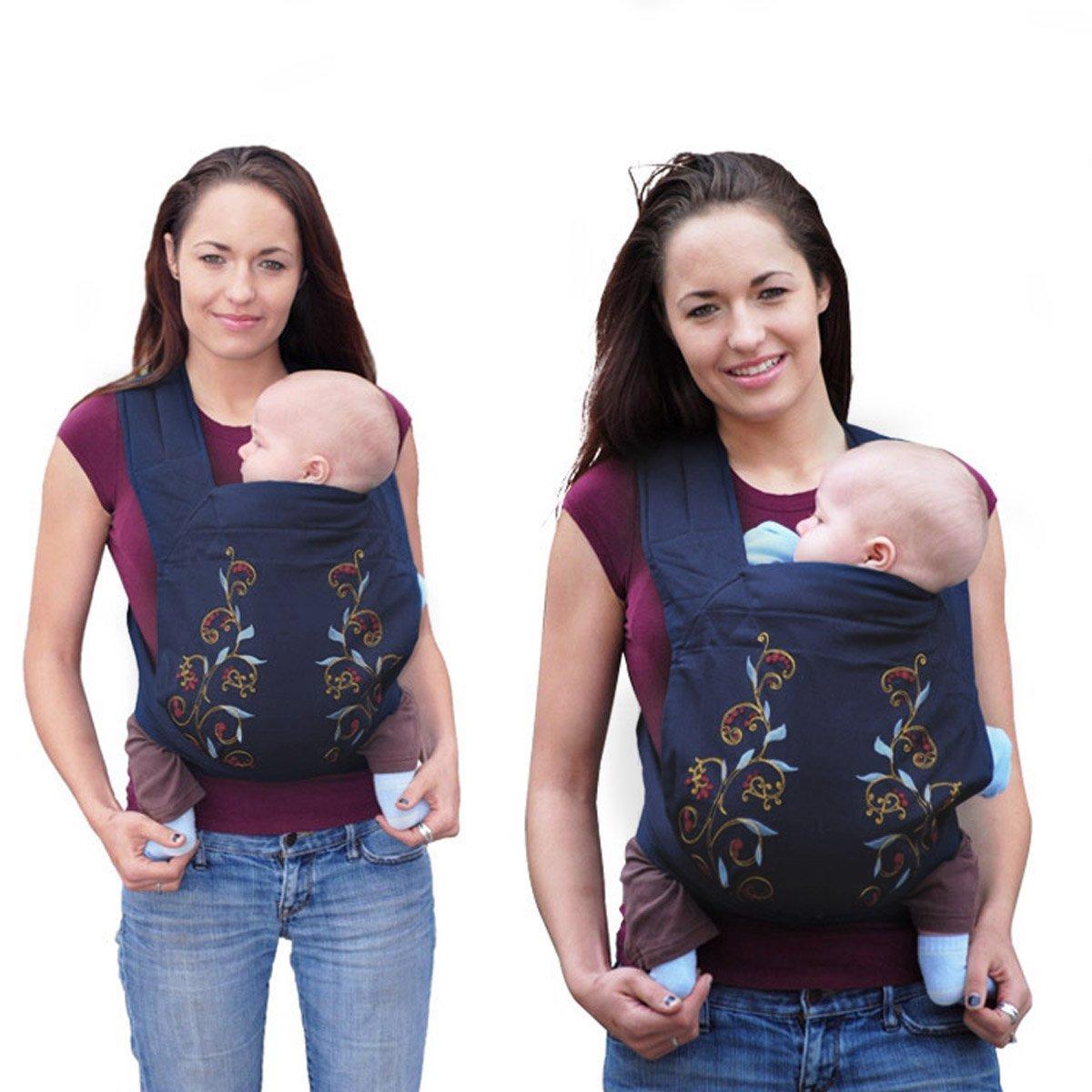 Marsupios Mochilas Portabebé para Bebés Niños Reciéns Nacidos-Flor Rosa Azul-Dazone® product
